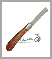 چاقو پيوند بهكو سر كج دسته چوبي BK-9971