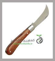 چاقو پيوند بهكو سر كج دسته چوبي BK-9973